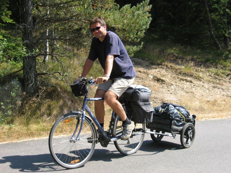 Pawel Beresewicz na rowerze