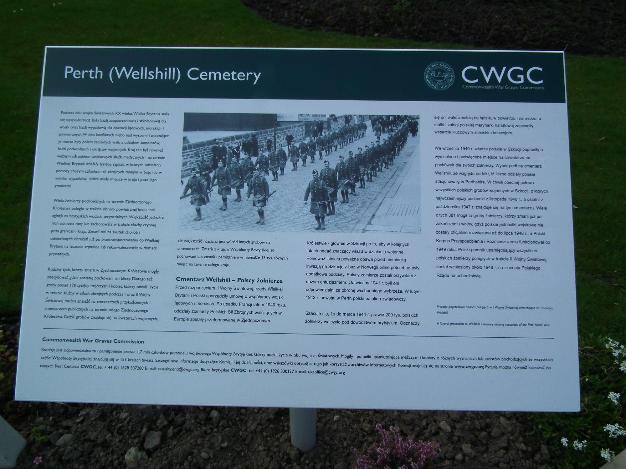 tablica na cmentarzu Perth
