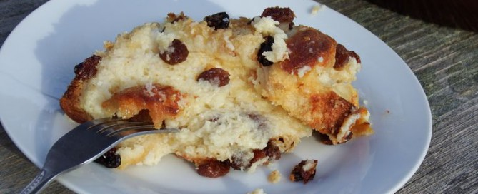 Bread pudding top