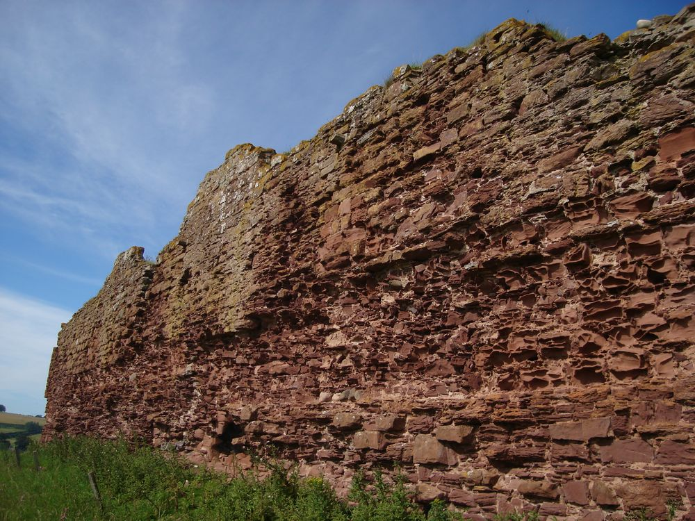 Lunan Bay i ruiny Red Castle