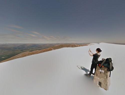 w Szkockie góry z Google Streetview