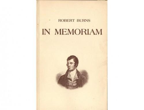 In Memoriam – wiersze Roberta Burnsa